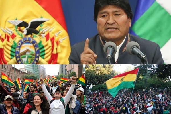 Evo Morales démissionne suite à des accusations de fraude électorale et de crise politique en Bolivie.